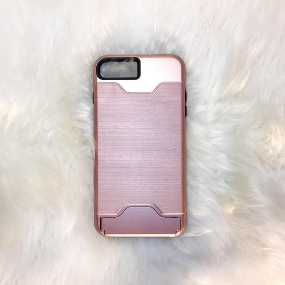 size 40 88e7d 8dfb1 Teelevo iPhone 7 Plus Rose Gold Card & Phone Case
